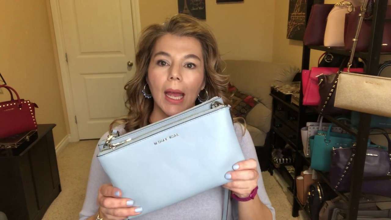 b5bf47ae3e02 Michael Kors What s in my bag + review Mercer wallet Adele Leather  Crossbody Selma