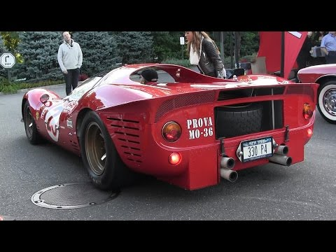 running errands in a ferrari 330 p4 rcr- race car on the steet