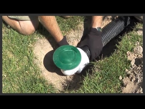 How To Install A Lawn Pop Up Drain Youtube