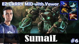 SumaiL - Tiny EZ CARRY MID | with YawaR (Chaos Knight) | Dota 2 Pro MMR Gameplay #6