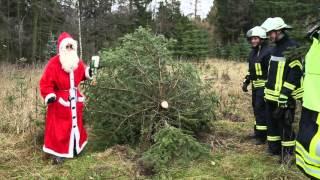 Feuerwehr Colmnitz  Weihnachtsbaum in Notlage HD720p