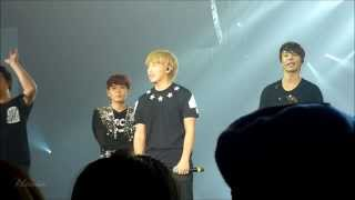 Sungmin screaming I LOVE YOU without microphone - SS5 LONDON ♥