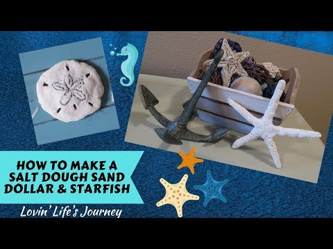 How To Make A Salt Dough Sand Dollar & Starfish | Coastal Beach Decor
