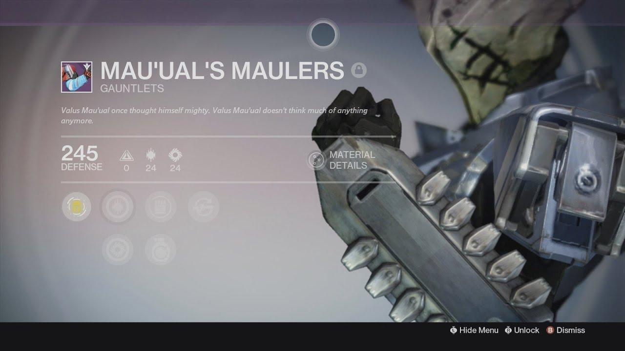 Destiny taken king fastest way to get mau ual s maulers treads