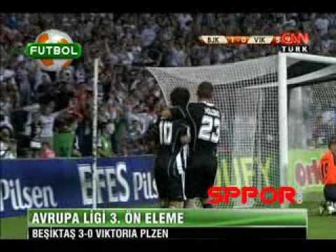 Besiktas Viktoria Plzen 3-0 Quaresma ve Holoskonun müthiş golleri http://www.sppor.com