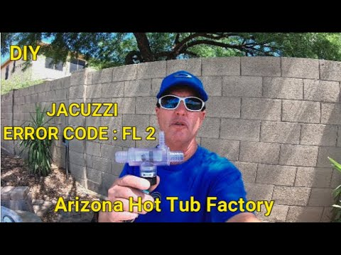 Jacuzzi ...ERROR CODE FL- 2 ..Flow Switch R & R.(DIY Spa Repair) FLOW Issue FL-1 And FL-2
