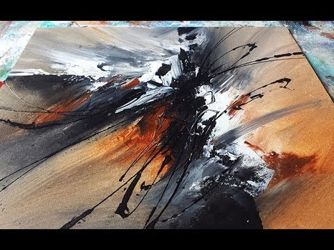 Abstract Painting DEMO 32 / Abstract art / Blending acrylics / painting techniques