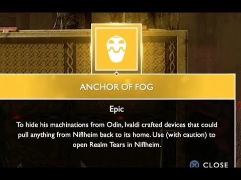 "How To Get The ""Anchor Of Fog"" God Of War Ps4 Guide"