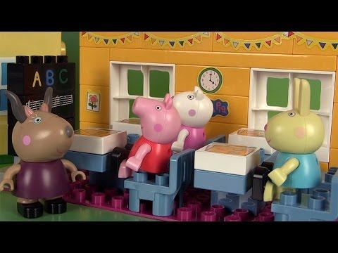 Peppa Pig Salle de Classe Ecole Jeu de construction Schoolhouse Construction Set