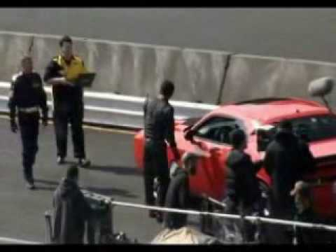TNT Leverage TV show caught on tape behind the scenes at Portland International Raceway by PIR Live.