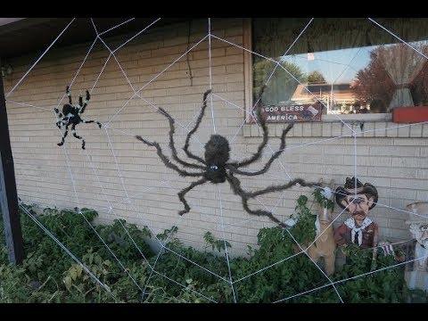 DIY Giant Spider Web - YouTube