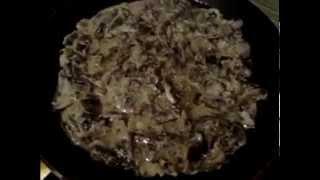Как пожарить грибы шампиньоны в сметане