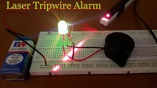 """How to make a """"Laser Security Alarm System"""" at Home on a Breadboard [HD]"""