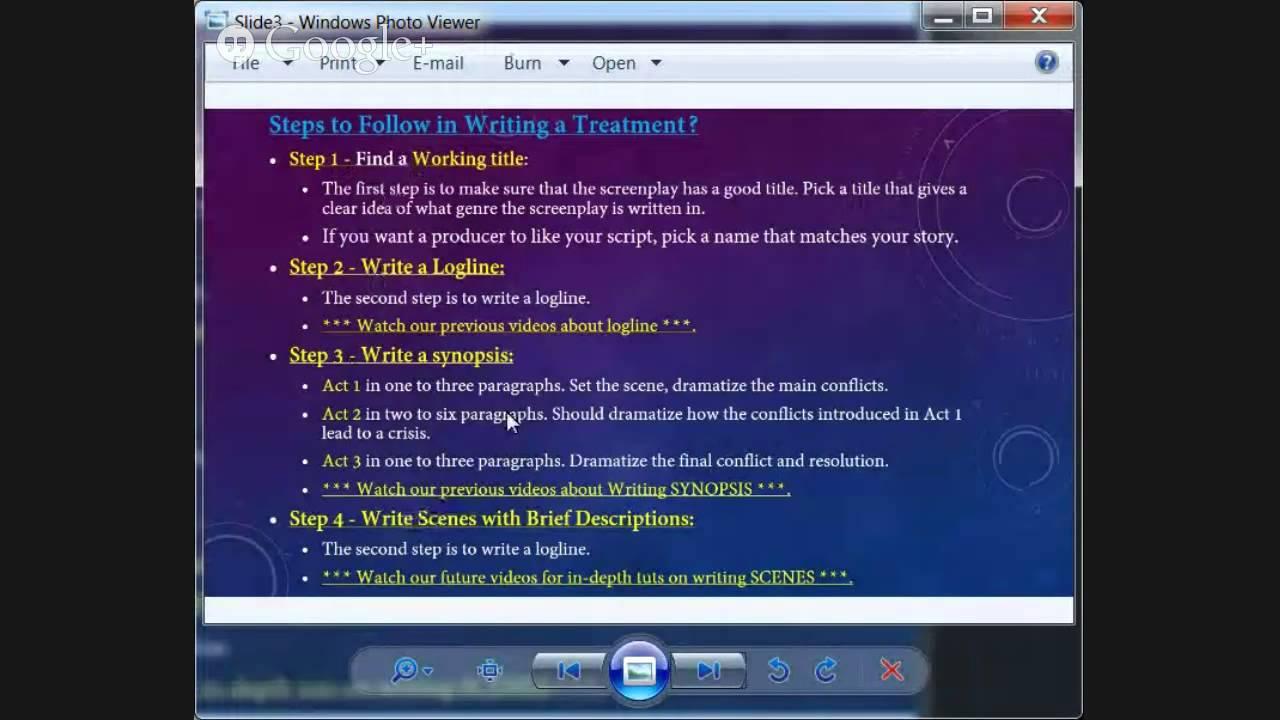 How To Write A Treatment
