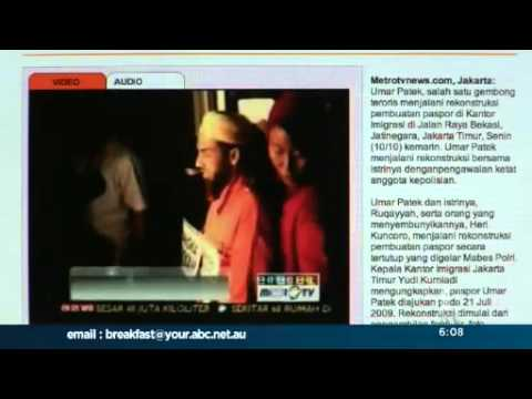 Accused Bali bomber shown laughing on TV