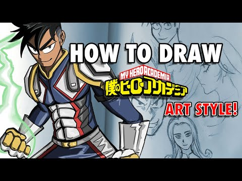 """How To Draw The """"My Hero Academia"""" ART STYLE!"""