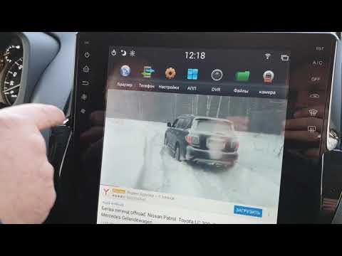 Обзор на установленную магнитолу в стиле Tesla Toyota Land Cruiser Prado 150 (2013-2017) CF-3120N