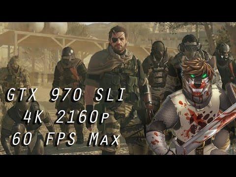 GTX970 (SLI) - Metal Gear Solid V: The Phantom Pain - Max Settings - 60FPS 4K UHD (2160p)