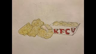Drawing And Coloring KFC Chicken Nuggets (Request)