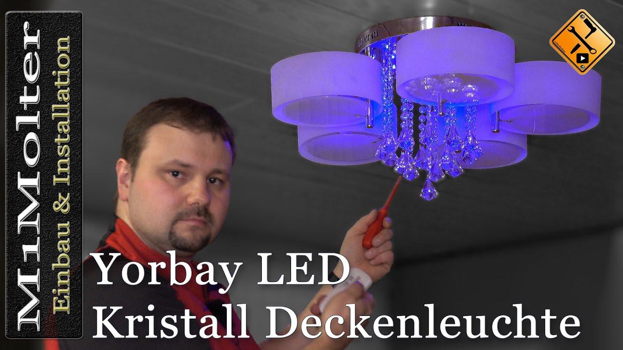 led kristall deckenleuchte yorbay einbau und anschluss. Black Bedroom Furniture Sets. Home Design Ideas