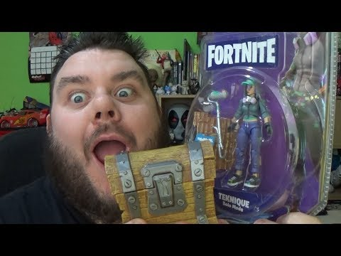Fortnite Teknique Action Figure & Loot Chest Unboxing Jazwares Fortnite Toy Review