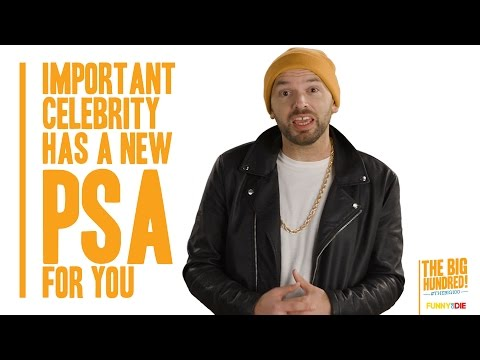 Important Celebrity Has A New PSA For You
