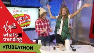 Hannah Hart and DailyGrace's Undrinkable Egg Nog LIVE From #Tubeathon
