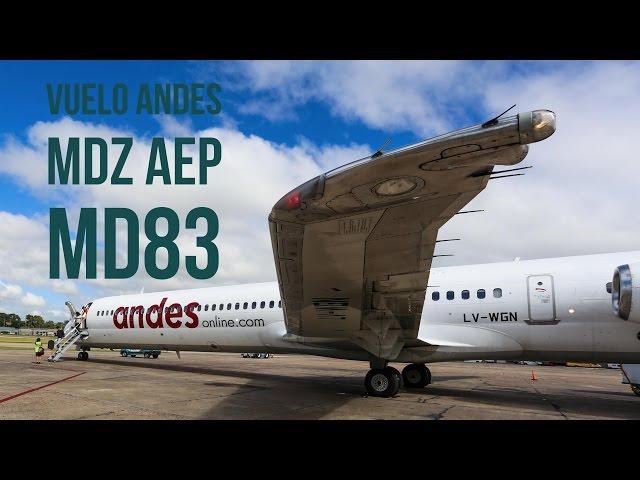 El vuelo inaugural de Andes a Mendoza
