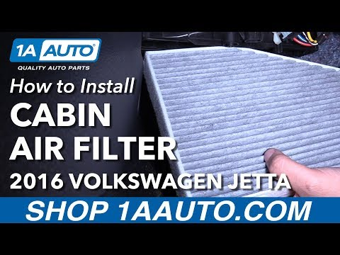 How to Replace Cabin Air Filter 07-17 Volkswagen Jetta