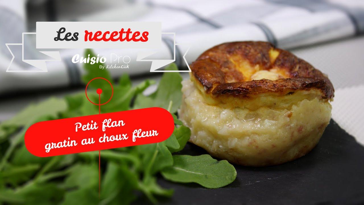 Recettes// Petit flan gratin au chou fleur// Cuisio Pro ...