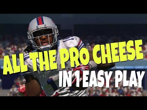 NO DEFENSE FOR THIS! WIDE OPEN GLITCH ROUTE! UNSTOPPABLE MONEY PLAY SCHEME MADDEN 18 BILLS TIPS