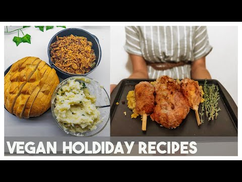 Best Vegan Turkey(Soy and Gluten free)/ Vegetarian Turkey / How to Host a Vegan Holiday Dinner
