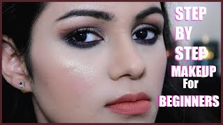 कैसे करें मेकअप Step By Step Makeup Tutorial For BEGINNERS in Hindi| FULL FACE Glam