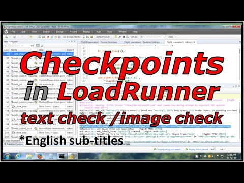 LoadRunner text check and image check in vuser script tutorial