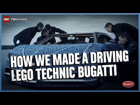 See how it was made - The Amazing Life-Size LEGO Technic version of the Bugatti Chiron thumbnail