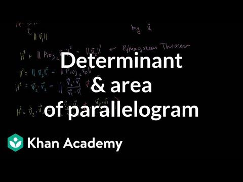 Determinant and area of a parallelogram | Matrix transformations | Linear Algebra | Khan Academy