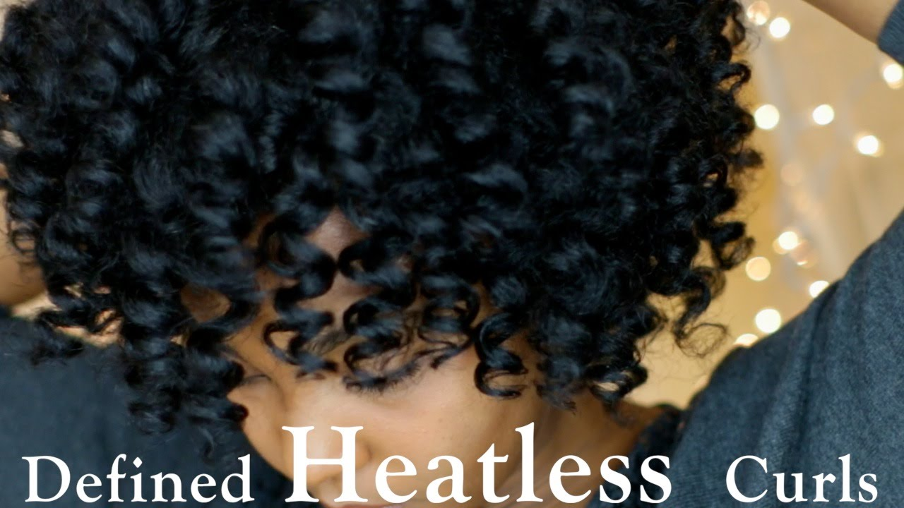 Defined Heatless Curls On Dry Natural Hair Youtube
