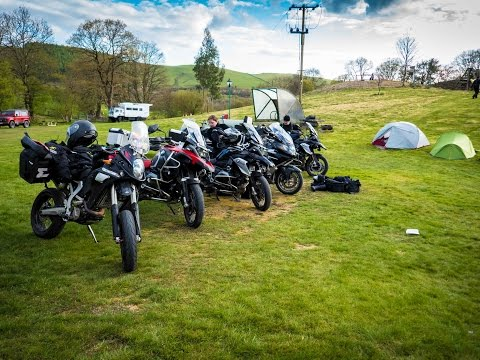 Motorbike Camping Tour to Wales - Brecon Beacons & mid-Wales in April 2017