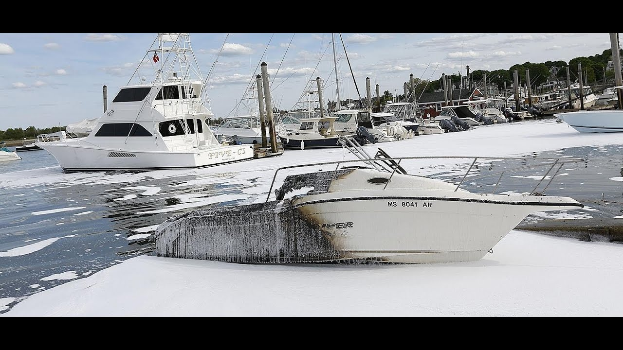 Children thrown into Scituate Harbor as boat catches fire