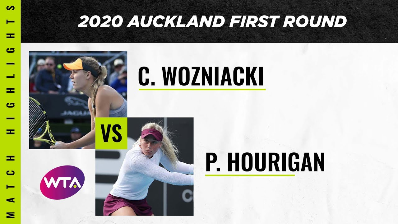Caroline Wozniacki vs. Paige Hourigan | 2020 Auckland Open First Round | WTA Highlights