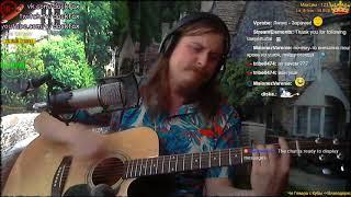 ноль человек и кошка кавер на гитаре вокал и рот саксофон запись стрима