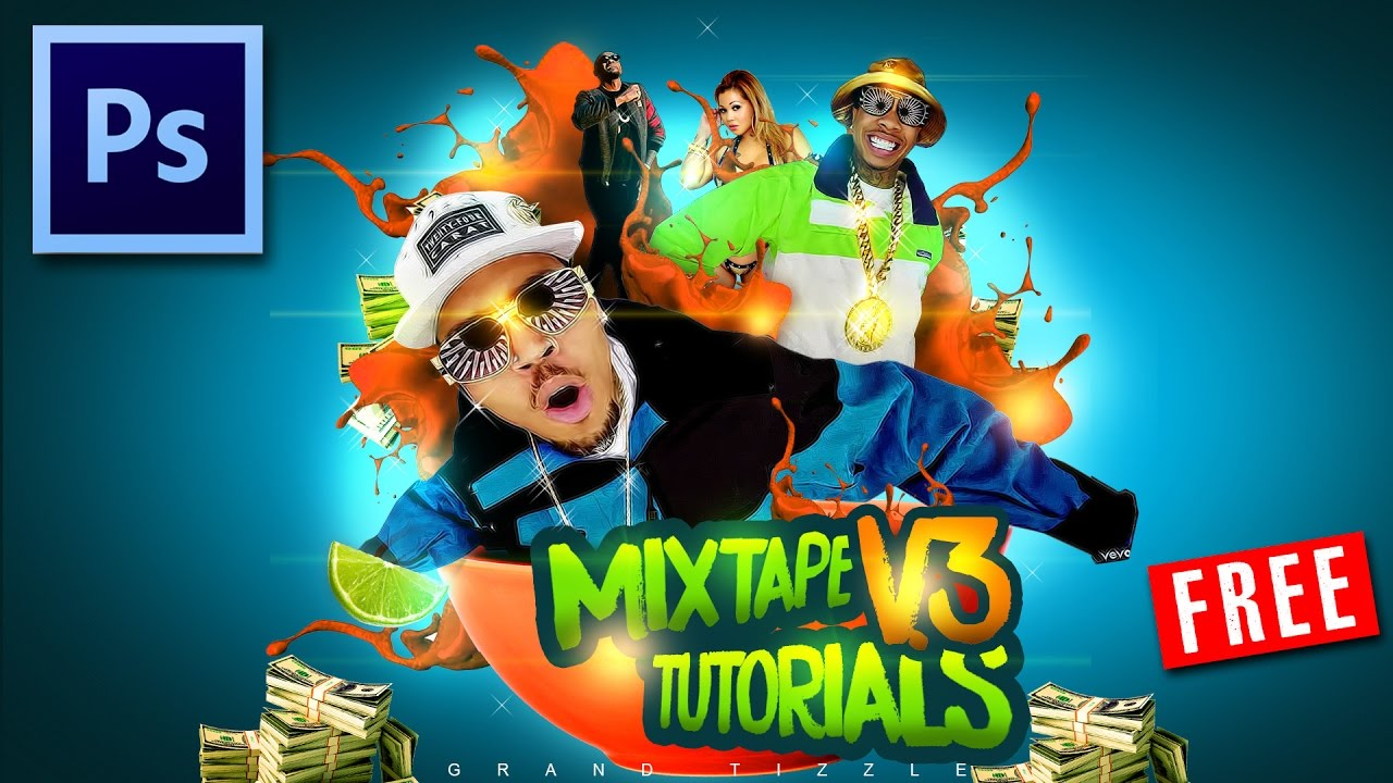 Mixtape cover art photoshop tutorials 2018 graphic design adobe psd mixtape cover art photoshop tutorials 2018 graphic design adobe psd cc advanced tutorials youtube baditri Image collections
