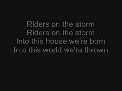 Riders on the storm  the doors lyrics