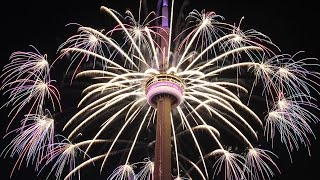 Toronto Pan Am Games Closing Fireworks at CN Tower - Full Length