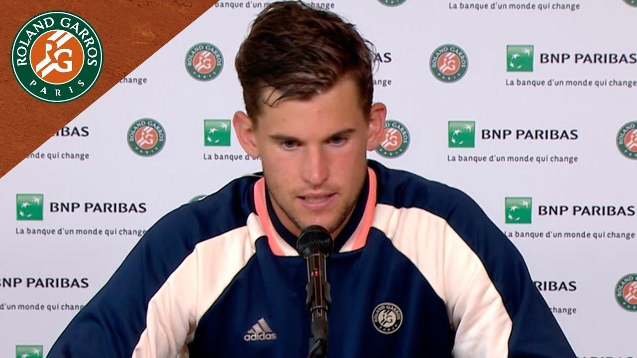 Dominic Thiem - Press Conference after Semi-Final I Roland-Garros 2018