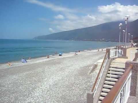 Абхазия. Гагры. Пляж