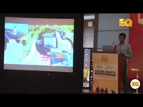 Karthik Mekala, Head Finance, SenseHawk at EQ Solar Assets Conference, Delhi