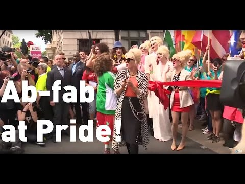 Ab Fab stars Patsy and Edina open London Pride