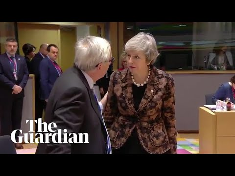Theresa May and Jean-Claude Juncker have 'frosty exchange'