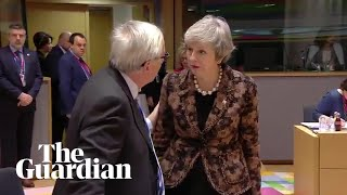 Theresa May and Jean-Claude Juncker have